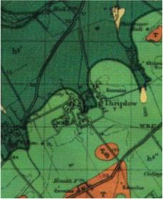 Extract from British Geological Survey Map