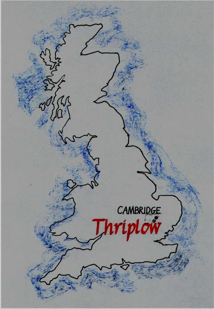 The village of Thriplow is about 6 miles south of Cambridge, England.